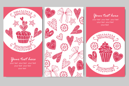 presentation card: business cards with cupcakes