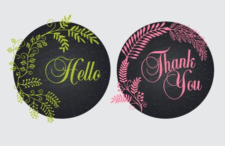 handdrawn: frames for text hand-drawn. Set of design elements