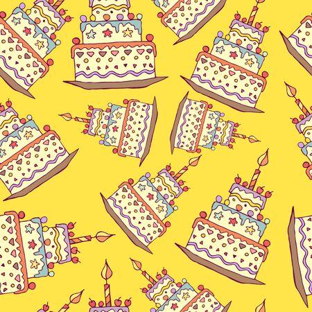 celebratory: background with the image celebratory cake Illustration