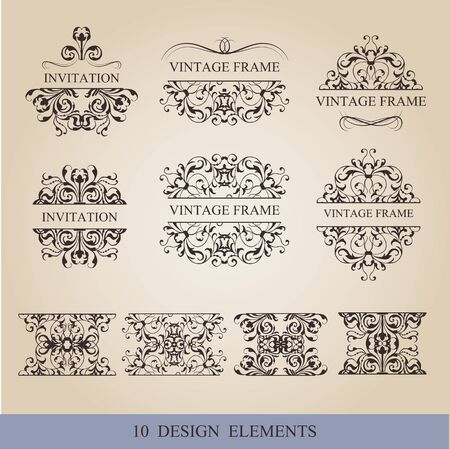 decoration design: vector set calligraphic design elements and page decoration lots of useful elements to embellish your layout