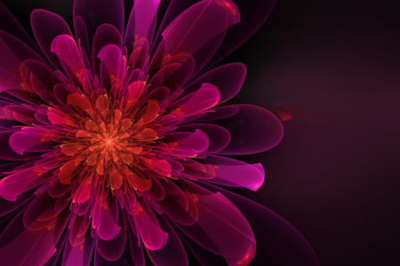 Abstract fractal flower computer-generated image