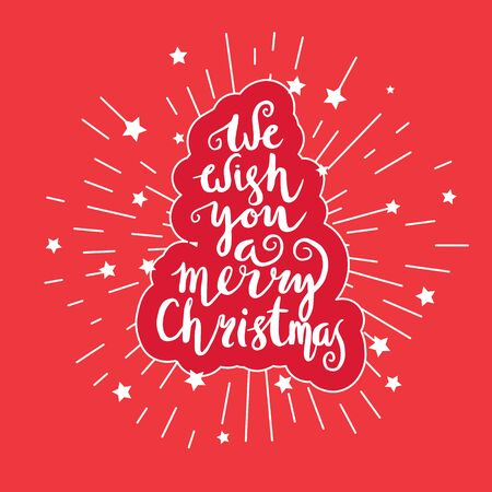 We wish you a merry Christmas Illustration