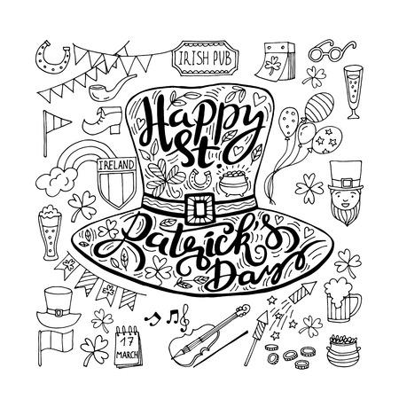 fourleaf: Saint Patricks Day traditional symbols collection.