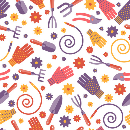 Gardening Tools seamless pattern design