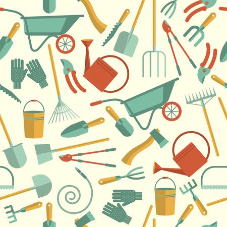 Gardening Tools Seamless pattern