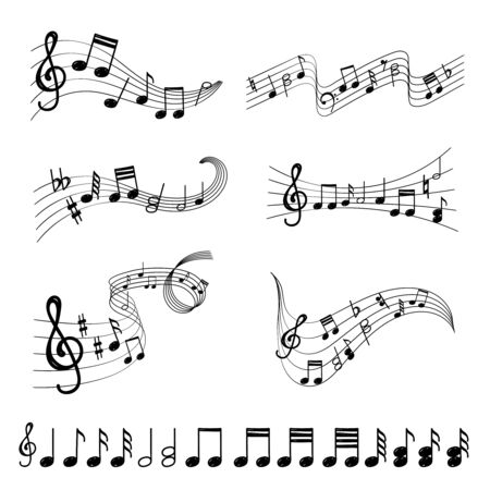 Music note design element in doodle style Иллюстрация