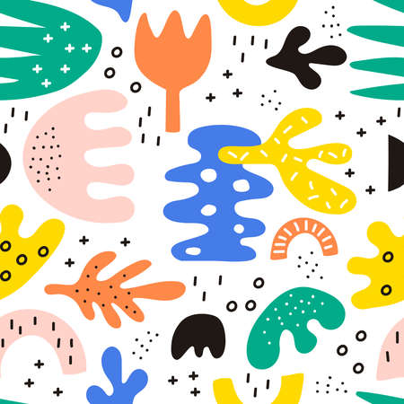 Seamless vector pattern with hand drawn dots. 矢量图像