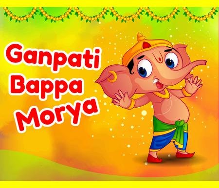 religious celebration: Happy Ganesh Chaturthi Festival Offers Illustration