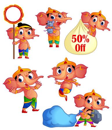 religious celebration: Happy Ganesh Chaturthi Festival , Ganesha Character