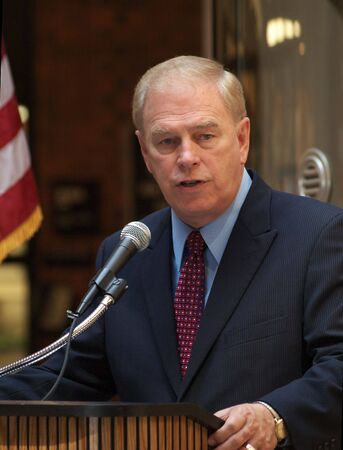 ted: FREMONT, OH - AUGUST 31: Governor of Ohio, Ted Strickland, who is running for re-election, speaks at a press conference on August 31, 2010 at Terra Community College in Fremont, OH.