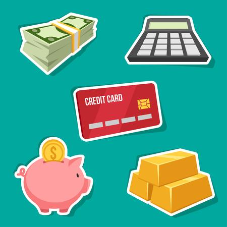 abundance: Vector set of finance icons.