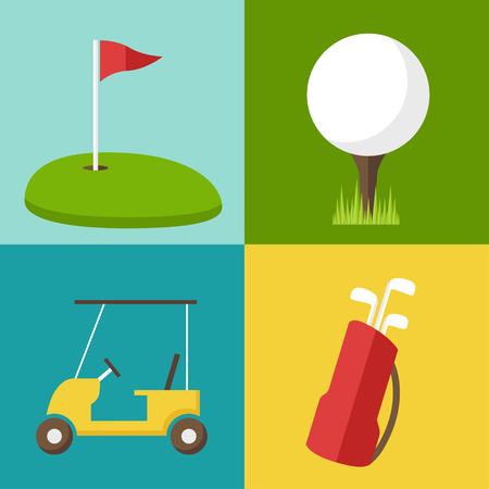 Vector golf icons set.