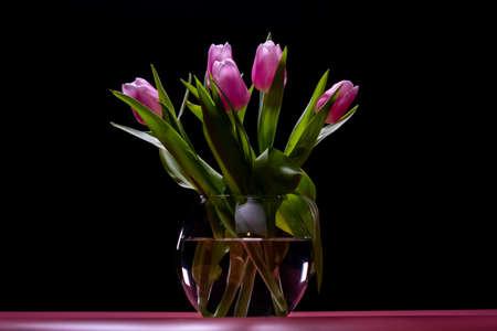Beautiful tulip flower spring bouquet. freshness background
