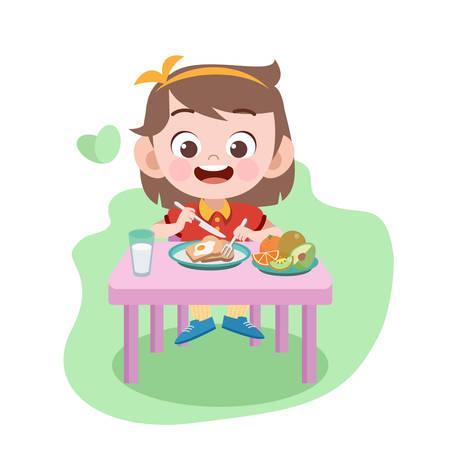 kid eating vector illustration Standard-Bild - 120659550