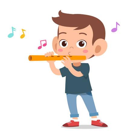 happy cute music sing hobby vector illustration Illustration