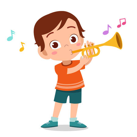 happy cute music sing hobby vector illustration