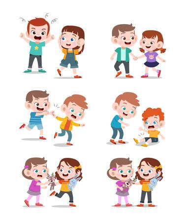 espressione dei bambini buona e cattiva illustrazione vettoriale