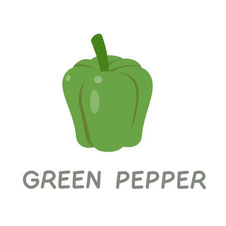 cute word vocabulary good food green vegetable Illustration