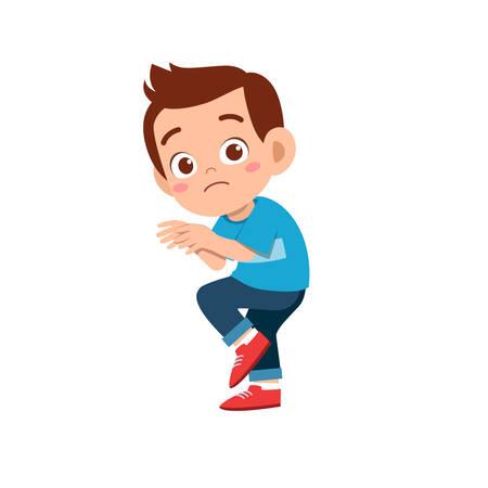 cute kid teen boy show facial expression