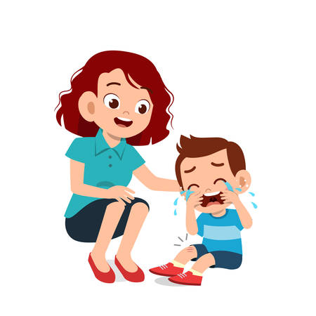 cute kids with parent design vector illustration