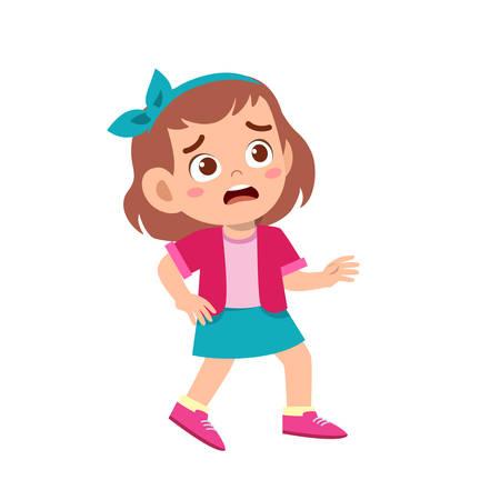lindo niño niña adolescente mostrar expresión facial