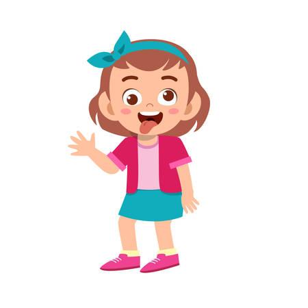 Jolie fille adolescente montrer l'expression du visage
