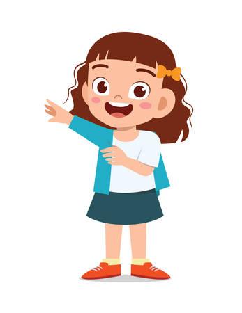 happy cute little kid girl wear a clothes
