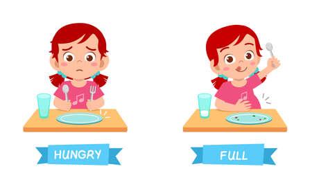 joli exemple d'antonyme de mot opposé pour enfant