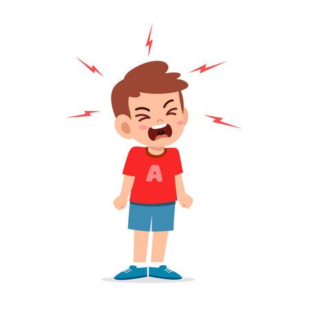little boy tantrum and scream very loud