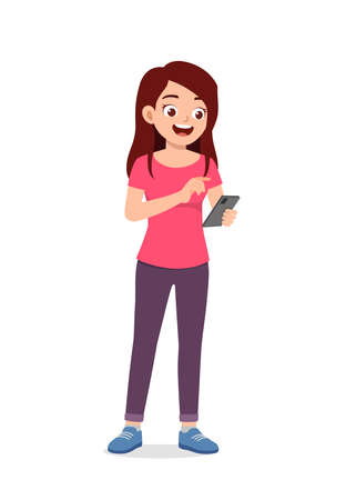 young good looking woman using modern smartphone