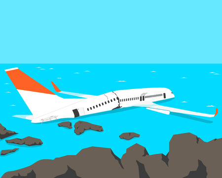 passenger plane: A passenger plane crashed on the beach.