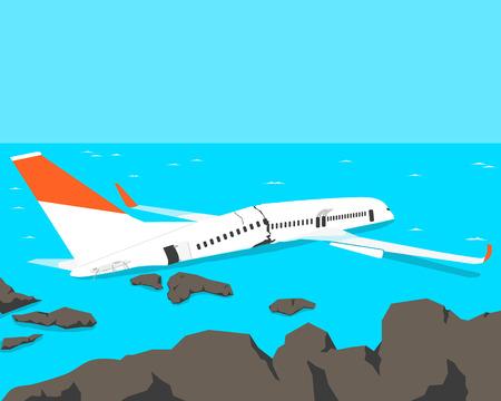 crashed: A passenger plane crashed on the beach.