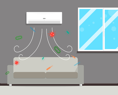 If a long time to clean the filters in the air conditioner it is presented mold and fungus. illustration