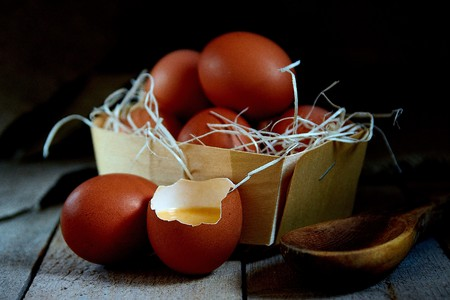 Fresh village chicken eggs are great for a healthy natural Breakfast