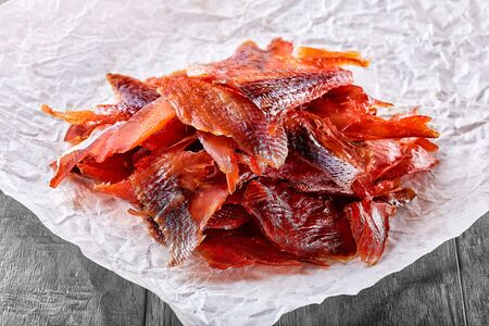Fresh hot and cold smoked fish is a very tasty snack