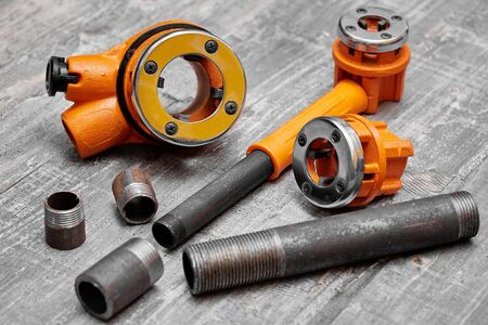 klupp and dies are professional tools for plumbers and locksmiths for large diameter threading
