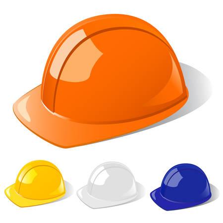 chapeau blanc: chapeau de construction de travailleurs � disque dur Illustration