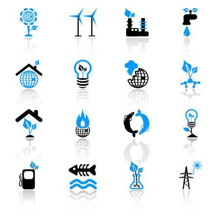 ecology concept icons Stock Vector - 5041921