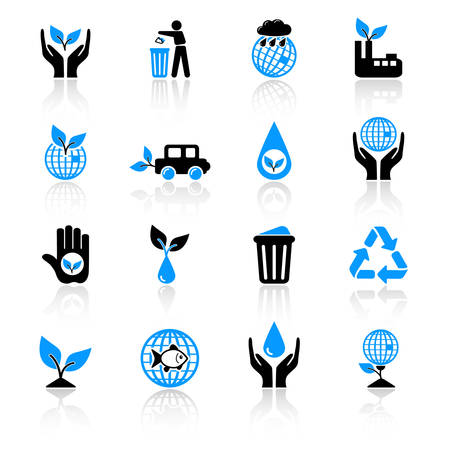 ecology icons Stock Vector - 5041920
