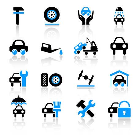 oiling: auto service icons
