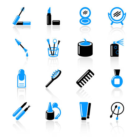 cosmetic icons Stock Vector - 5041919