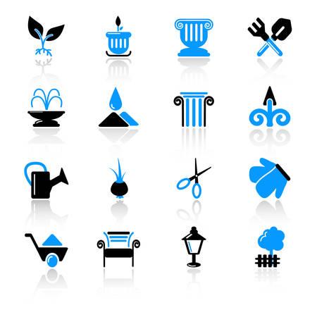 Garten Symbole