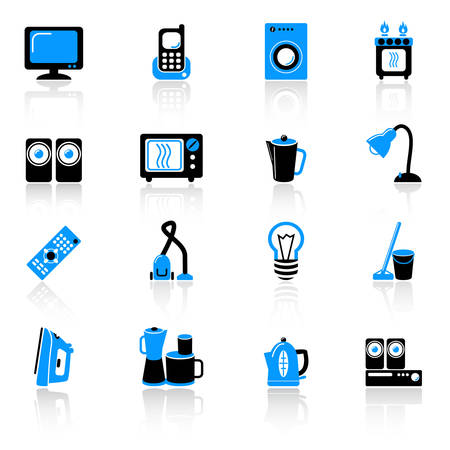 home equipment icons Illustration