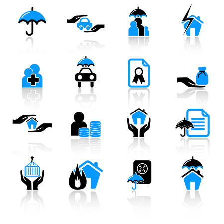 insurance icons Stock Vector - 5311399