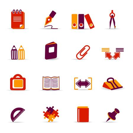 straightedge: Office icons Illustration