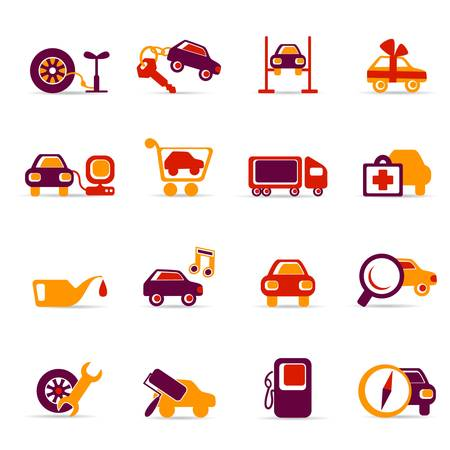Auto service icons Stock Vector - 6722225