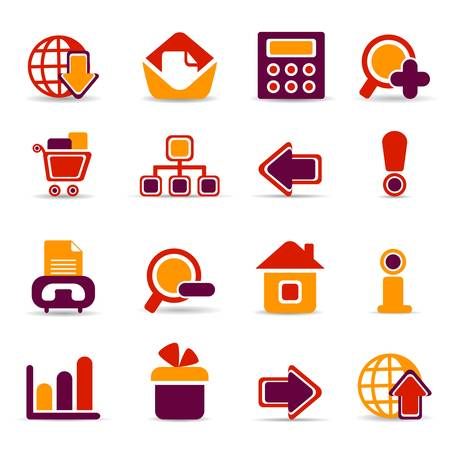 web icons Stock Vector - 6722213