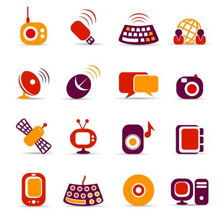 communication icons Stock Vector - 6722216