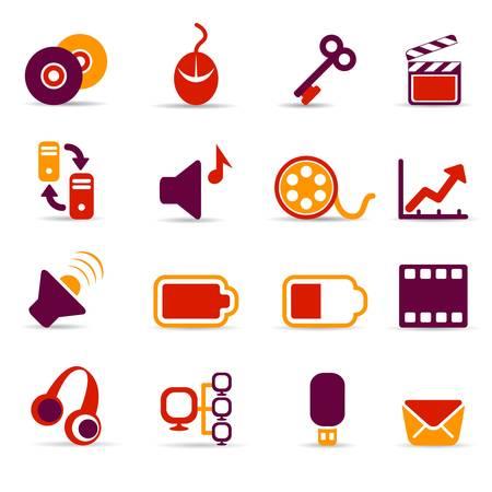 transmit: media icons