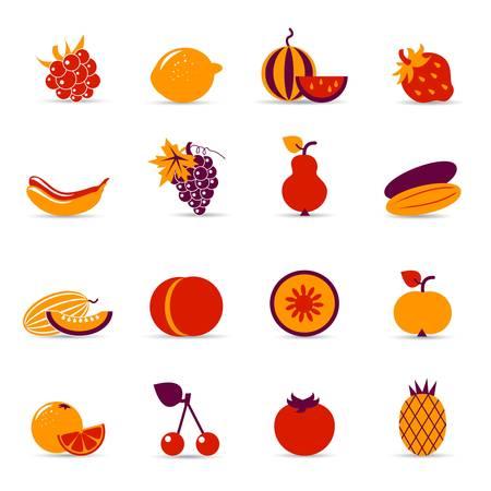 index card: fresh food icons